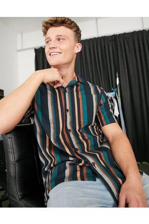 Farah Bloomfield revere shirt-Green