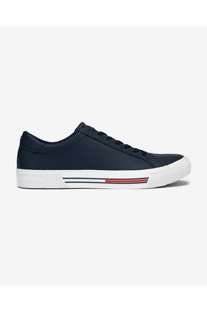 Tommy Hilfiger Essential Leather Sneakers Blue