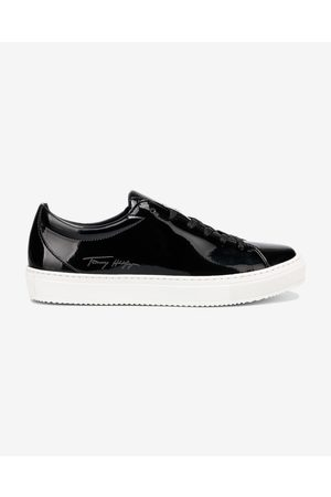 Tommy Hilfiger Zero Waste Patent Sneakers Black
