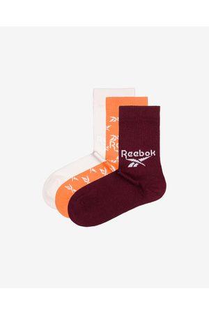 Reebok Set of 3 pairs of socks Red White Orange