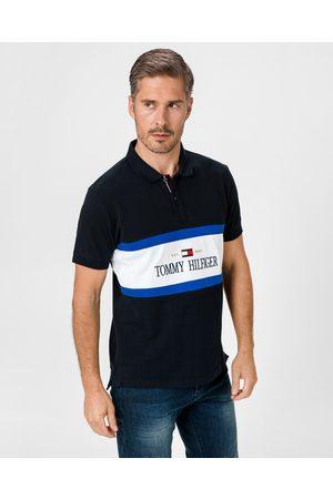 Tommy Hilfiger Logo Insert Polo T-shirt Blue
