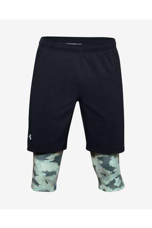Under Armour Homem Calções - Launch SW 2-in-1 Short pants Black Green Grey