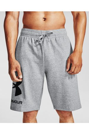 Under Armour Rival Fleece Big Logo Shorts Grey