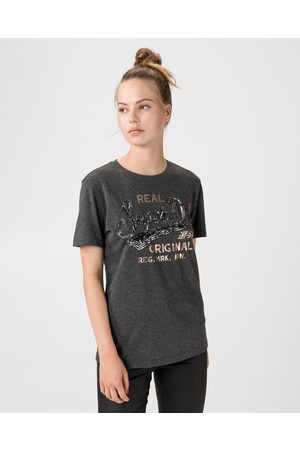 Superdry Script Sequin T-shirt Grey