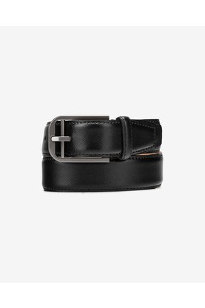 Calvin Klein Double Bar Buckle Belt Black