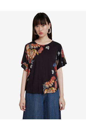Desigual Gabi T-shirt Black Colorful