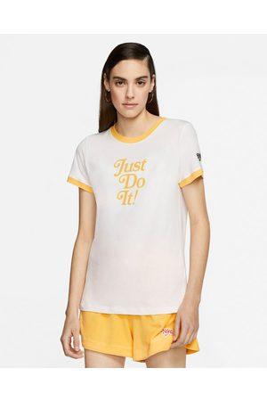 Nike Nike Ringer T-shirt Yellow White