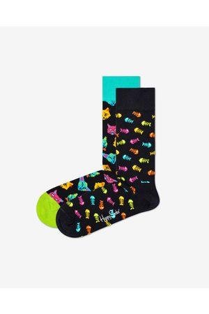 Happy Socks Cat Gift Box Set of 2 pairs of socks Colorful