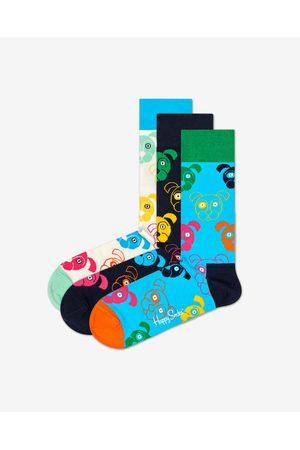 Happy Socks Dog Gift Box Set of 3 pairs of socks Colorful