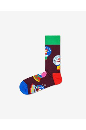 Happy Socks Snow Globe Socks Black Colorful