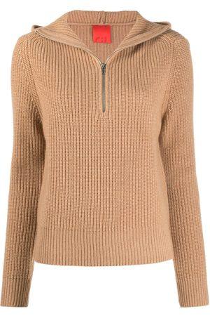 Cashmere In Love Senhora Camisolas com capuz - Ribbed-knit hoodie