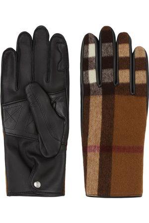 Burberry Homem Luvas - Check-pattern gloves