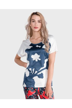 GAS Melyn Big Flower T-shirt White