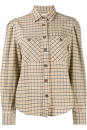 Isabel Marant Check print panelled shirt