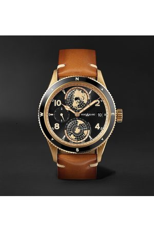 Montblanc Homem Relógios - 1858 Geosphere Limited Edition Automatic 42mm Bronze, Ceramic and Leather Watch, Ref. No. 119347