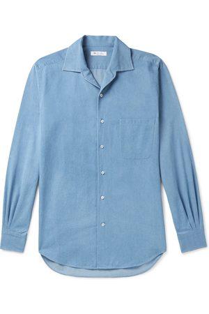 Loro Piana Camp-Collar Denim Shirt