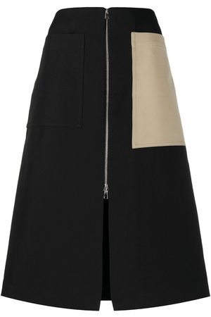 Colville Senhora Saias Midi - Colour-block midi skirt