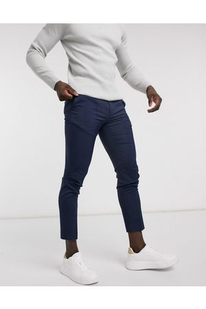 Burton Homem Calças - Skinny suit trousers in navy check