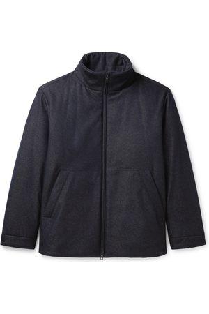 Loro Piana Storm System Virgin Wool-Blend Denim Bomber Jacket