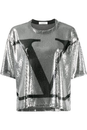 VALENTINO VLOGO sequinned T-shirt