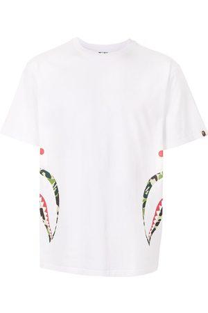 A BATHING APE® Camouflage shark print cotton T-shirt