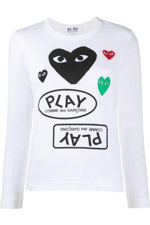Comme Des Garçons Play Heart patch logo jersey top