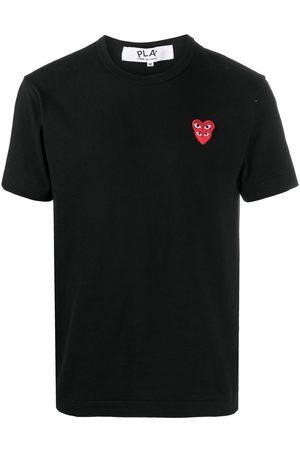 Comme des Garçons Heart-embroidered crew-neck T-shirt