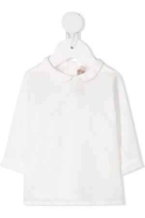 LA STUPENDERIA Textured spot blouse