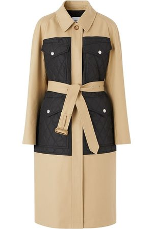 Burberry Panelled quilted trench coat