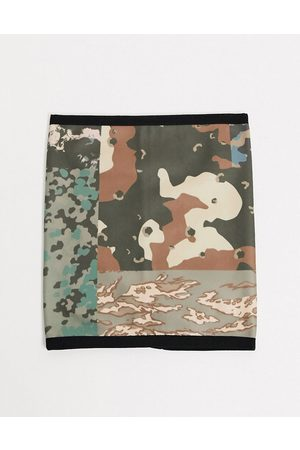 ASOS Snood in camo print fleece-Multi