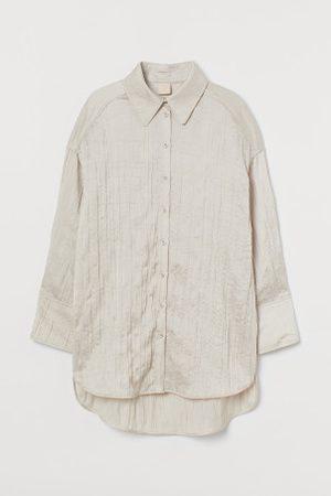 H&M Camisa oversize em cetim