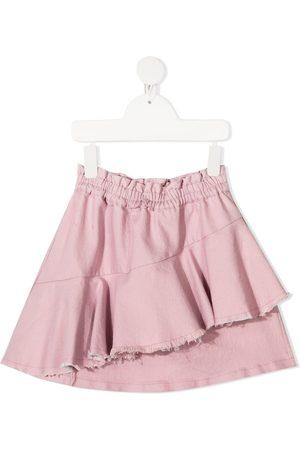 Le pandorine Destroyed draped skirt