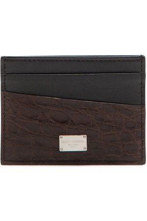 Dolce & Gabbana Logo-plaque panelled cardholder