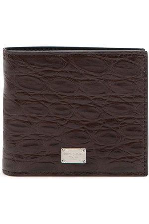 Dolce & Gabbana Logo-plaque folding wallet