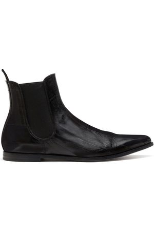 Dolce & Gabbana Panelled pointed-toe ankle boots