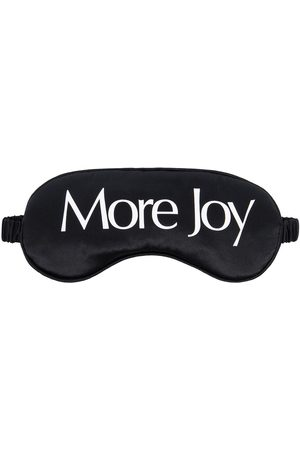 More Joy Logo print silk satin eye mask