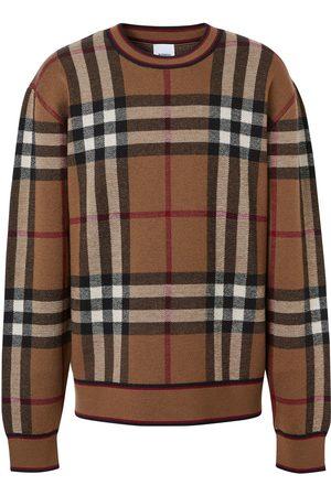 Burberry Check print jumper