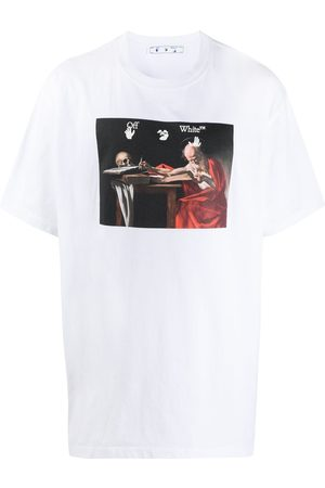 OFF-WHITE CARAVAGGIO S/S OVER TEE RED