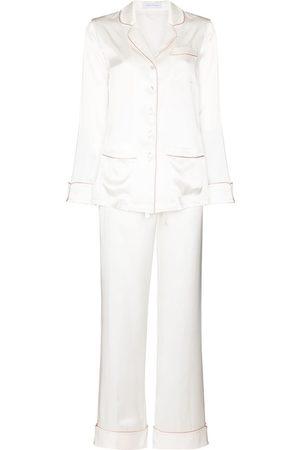 Olivia von Halle Two-piece silk pajama set