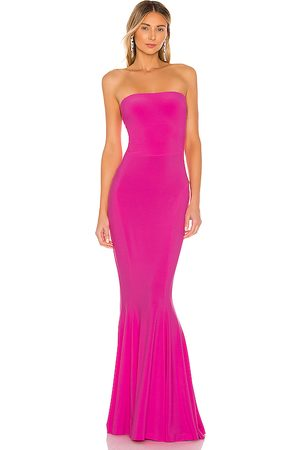 Norma Kamali X REVOLVE Strapless Fishtail Gown in - Pink. Size L (also in S, M).