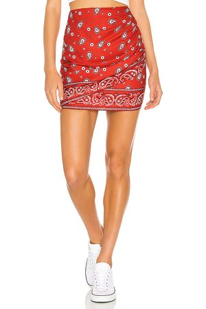 superdown Darby Mini Skirt in - Red. Size M (also in S, XS, XXS).