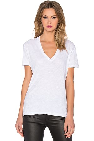 MONROW Senhora Casual - Oversized V Neck Tee in - . Size L (also in XS, S, M).