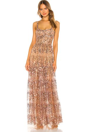 Bronx and Banco Runway Midnight Gown in - Metallic . Size L (also in M).