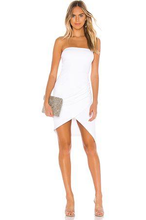 Susana Monaco Strapless Side Pleat Dress in - White. Size L (also in M, S, XS).