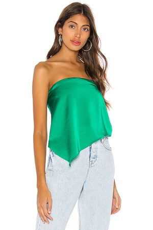 superdown Cora Asymmetrical Top in - Green. Size M (also in XS).