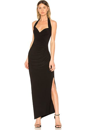 Norma Kamali Halter Sweetheart Side Drape Gown in - . Size M (also in S, XS).