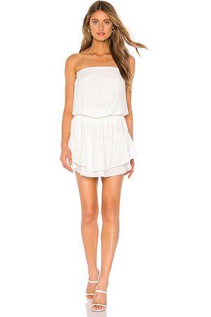 krisa Smocked Strapless Mini Dress in - . Size L (also in XS, S, M).