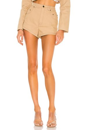 h:ours Midtown Shorts in - Tan. Size L (also in XXS, XS, S, M, XL).