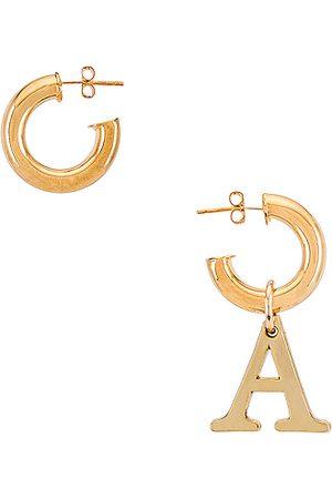 Martha Calvo Initial Huggies in - Metallic . Size A (also in C, D, E, F, G, H, I, J, K, L, M, N, O, P, R, T).