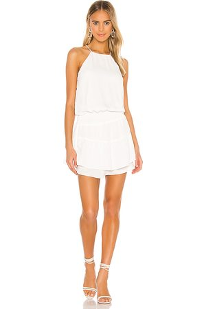 krisa Smocked Halter Dress in - . Size L (also in M, S, XS).